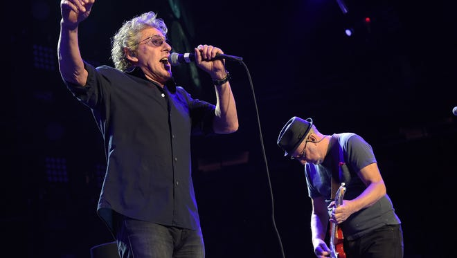 Roger Daltrey and Pete Townshend of The Who In Concert - New York, NY at Madison Square Garden on March 3, 2016.