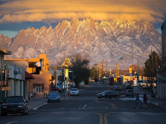 The Organ Mountains appear in all their glory in this photo taken from Las Cruces Avenue in downtown Las Cruces.