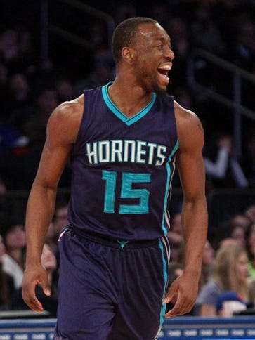 Kemba Walker leads the Hornets in points (18.8), assists