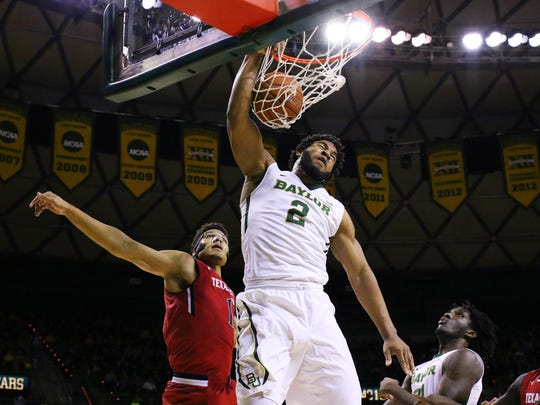Baylor Bears forward Rico Gathers.