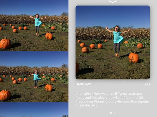 My daughter, Ellis, 4, enjoys picking out a pumpkin at Hogan Farms Pumpkin Patch & Corn Maze in Brownsburg, Ind.