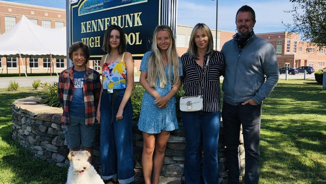 The Slone family, of Kennebunk, is one of many preparing for a new school year amid a historic pandemic. From left are Redford, 11, left, Hannah, 16, and Harper, 18, and their parents, April and Mike.