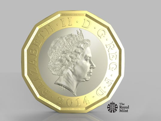 AP Britain New Pound Coin