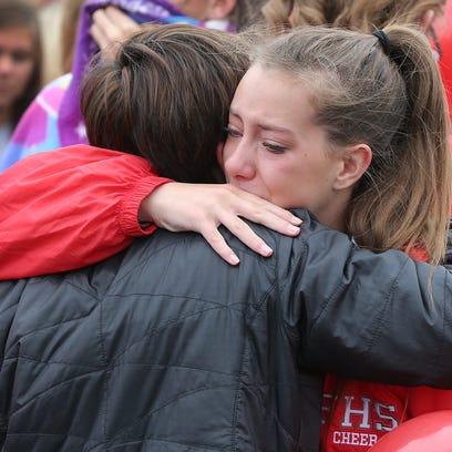 Friends and family member of slain IU student Hannah