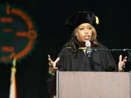 Pam Oliver gave the commencement address at FAMU 2015 graduation ceremony.