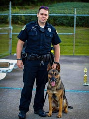 HPD Officer Kyle Stone and K-9 partner, Exo