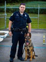 HPD Officer Kyle Stone and K-9 partner, Exo