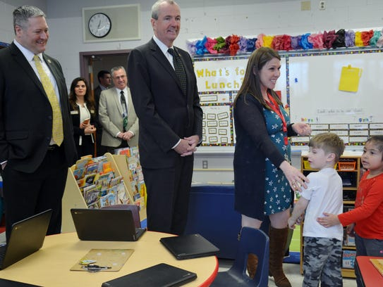 Gov. Phil Murphy, who toured the JFK Elementary School