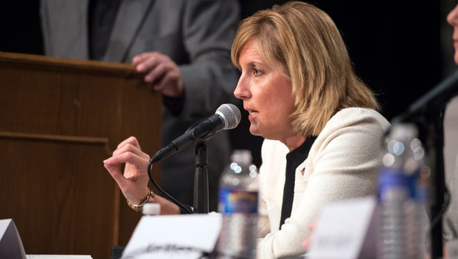 Then-Assemblywoman Claudia Tenney speaks during a debate in September.