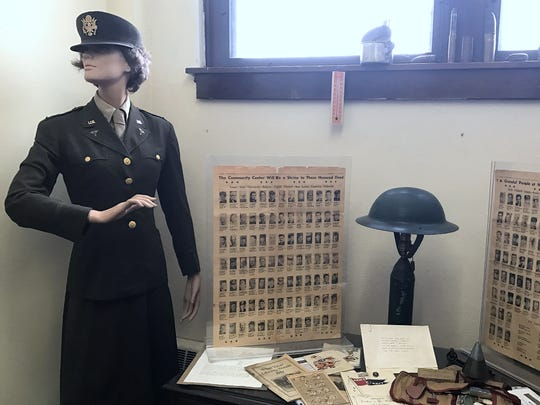 A room inside the Elmira Heights Historical Society Museum salutes all of the veterans from the village who served in the military.