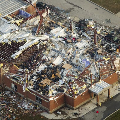 Henryville High School in southern Indiana was destroyed