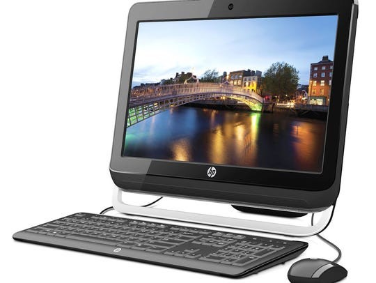 HP's All-in-one desktop computer.