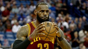 Jan 23, 2017; New Orleans, LA, USA; Cleveland Cavaliers forward LeBron James (23) before a game against the New Orleans Pelicans at the Smoothie King Center. Mandatory Credit: Derick E. Hingle-USA TODAY Sports ORG XMIT: USATSI-324698 ORIG FILE ID:  20170123_ggw_ah6_033.JPG