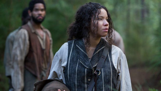 "Jurnee Smollett-Bell as Rosalee in the TV series ""Underground."" The show on WGN is one of many projects telling the story of how the railroad helped 30,000 to 100,000 (of the millions of enslaved blacks) to escape to Canada."