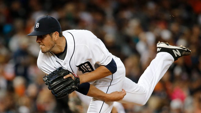 Detroit Tigers relief pitcher Drew VerHagen.