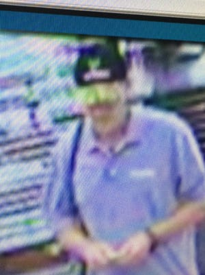 Hattiesburg police are searching for this in connection with a Friday bank robbery at BancorpSouth on Broadway Drive.