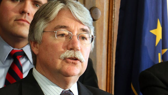 Indiana Attorney General Greg Zoeller is asking for a full-court review by 10 judges on the 7th U.S. Circuit Court of Appeals of the state's appeal of a federal judge's ruling in June that declared Indiana's ban on same-sex marriages unconstitutional.