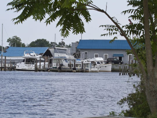 The Cedar Cove Marina is one of many properties officials hope to upgrade. After years of struggling to redevelop its riverfront areas along the Toms River, South Toms River's mayor and council have declared the area a redevelopment zone and have applied for nearly a million dollars in state grants, etc. to remake the dilapidated area. South Toms River, NJ Thursday, July 31, 2014 Doug Hood/Staff Photographer