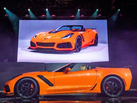 The 2019 Chevrolet  Corvette ZR1 convertible makes
