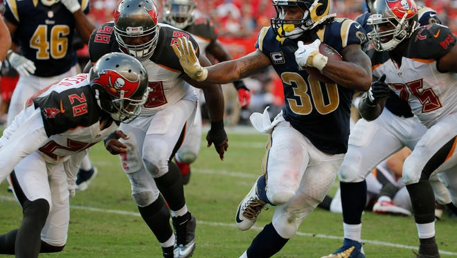 Los Angeles Rams running back Todd Gurley.