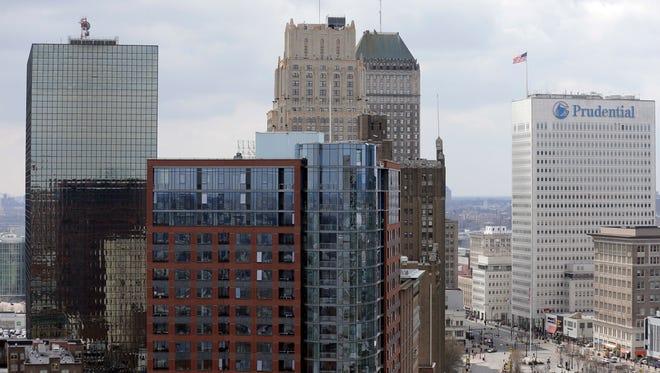 A part of Newark's skyline is seen April 10, 2018.