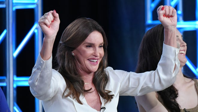 """FILE - In a Thursday, Jan. 14, 2016 photo, Caitlyn Jenner participates in E!'s """"I Am Cait"""" panel at the NBCUniversal Winter TCA, in Pasadena, Calif."""