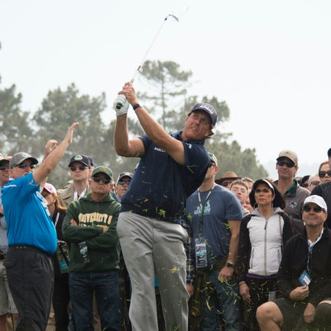 Phil Mickelson on the 13th hole during the third round