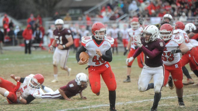 Riverheads' running back Harrison Schaefer finished the day with 180 yards and four rushing touchdowns as the Gladiators routed Galax Saturday in the 1A state semifinals.