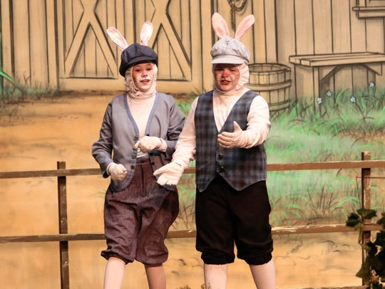 Millie Treadway and Ben Hurbis as Peter Rabbit and