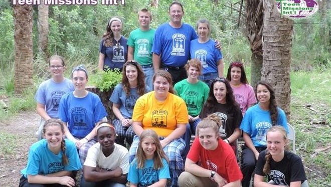Smoky Mountain rising junior Meredith Stack (second row, far right) is currently part of a mission trip in Malawi.