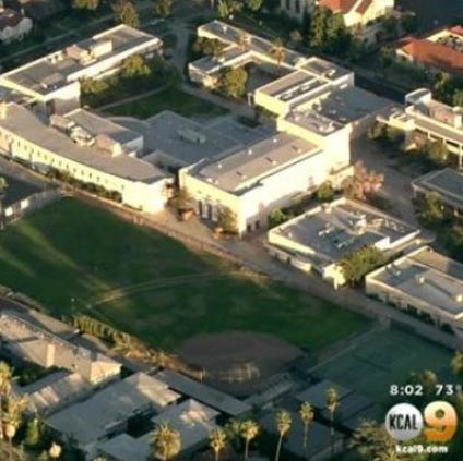 South Pasadena High School in a screen shot fro KCAL-TV