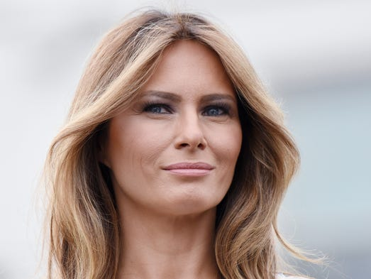First lady Melania Trump co-hosted with President Trump