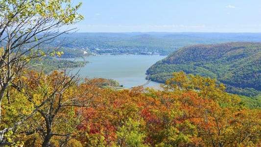 Fall foliage in Bear Mountain State Park, N.Y.