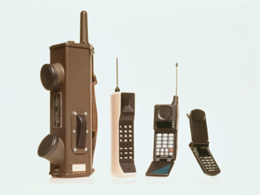 Cell phone evolution. Credit: Getty Images