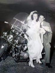 Married in 1947, Ed Kastelic and his bride Isabelle