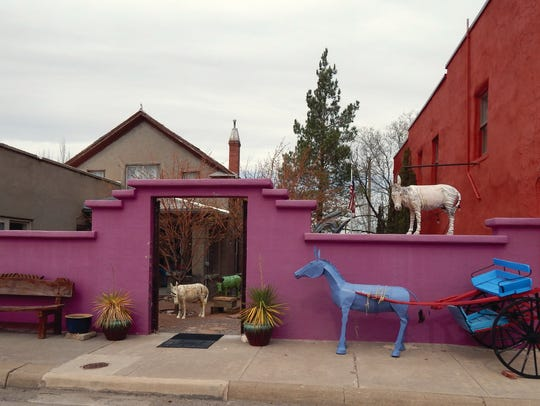 Carrizozo has over 100 artist-embellished burro sculptures