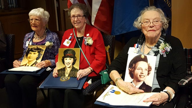 From left: Alice Mungall Porter, Marilyn Richards Weche Dow, and Maxine Edmundson Flournoy.