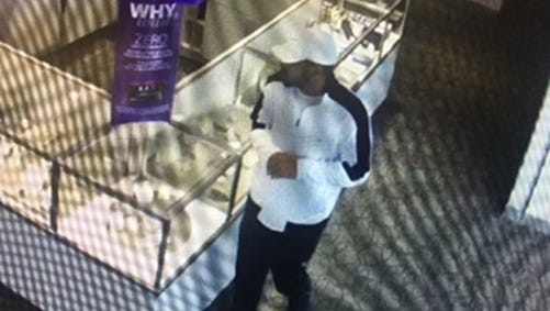 FMPD is seeking information on a man seen on surveillance video walking out of Kay Jewelers at 9374 Six Miles Cypress Parkway on Monday June 11 with a Diamond Solitaire Ring.