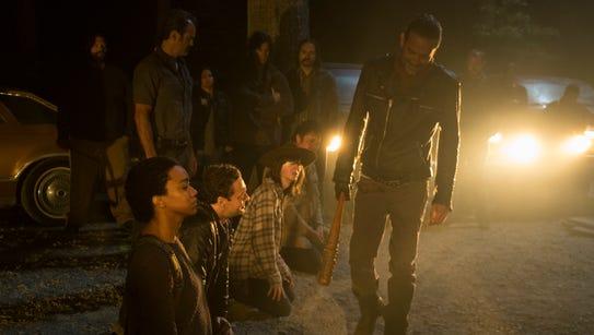 "Jeffrey Dean Morgan as Negan in AMC's ""The Walking"