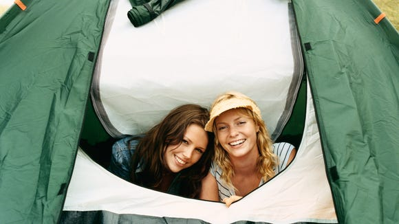 Make your girl's night out a long weekend camp out.