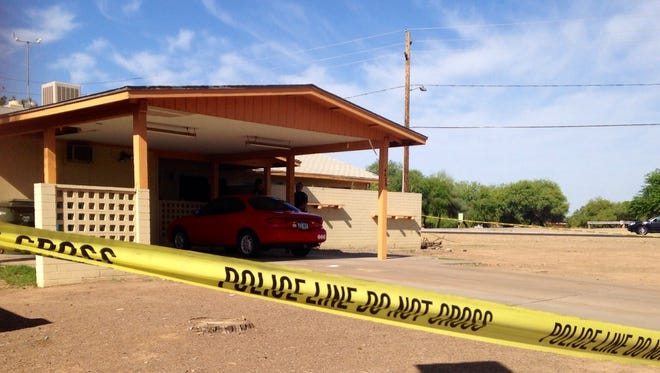 The west Phoenix home where a woman shot an intruder on May 6, 2014.