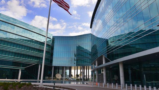 Harris Corp. unveiled its new six-floor, $130 million complex in Palm Bay on Feb. 23.