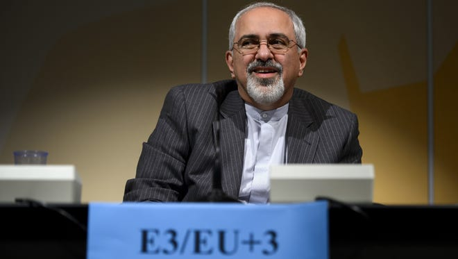 Iranian Foreign Minister Mohammad Javad Zarif at close of nuclear talks in Geneva last week.