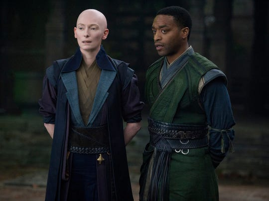 Tilda Swinton plays the Ancient One and Chiwetel Ejiofor
