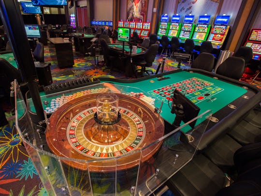 A roulette table on the new casino gaming floor at