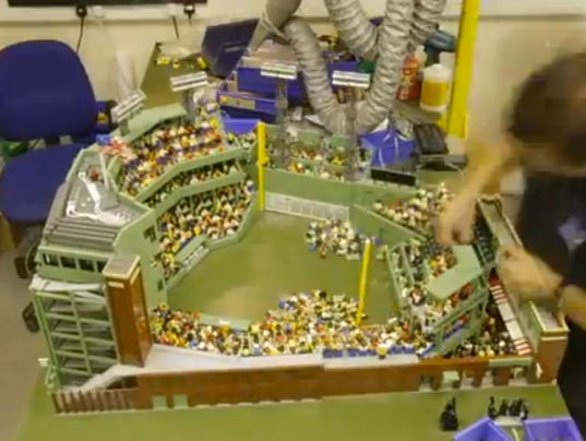 Fenway Park built with Legos