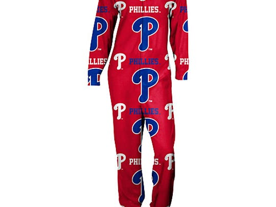 "The Philadelphia Phillies' ""footie pajamas"" features prominent Ps, giving new meaning to Whiz Kids."