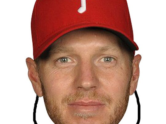 A Roy Halladay mask has been marked down from $13 to $10 at the Philadelphia Phillies' online shop.