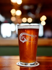 The Hook Bender Double IPA, photographed at Mudhook