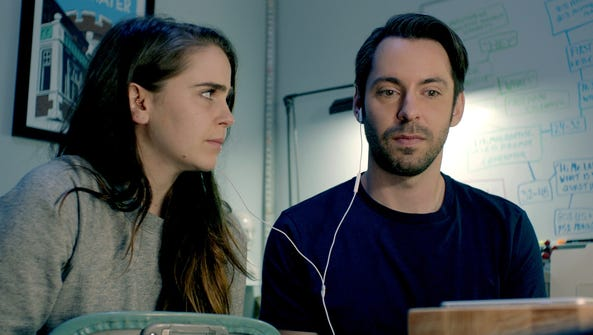 "Mae Whitman and Martin Starr star in ""Operator."""